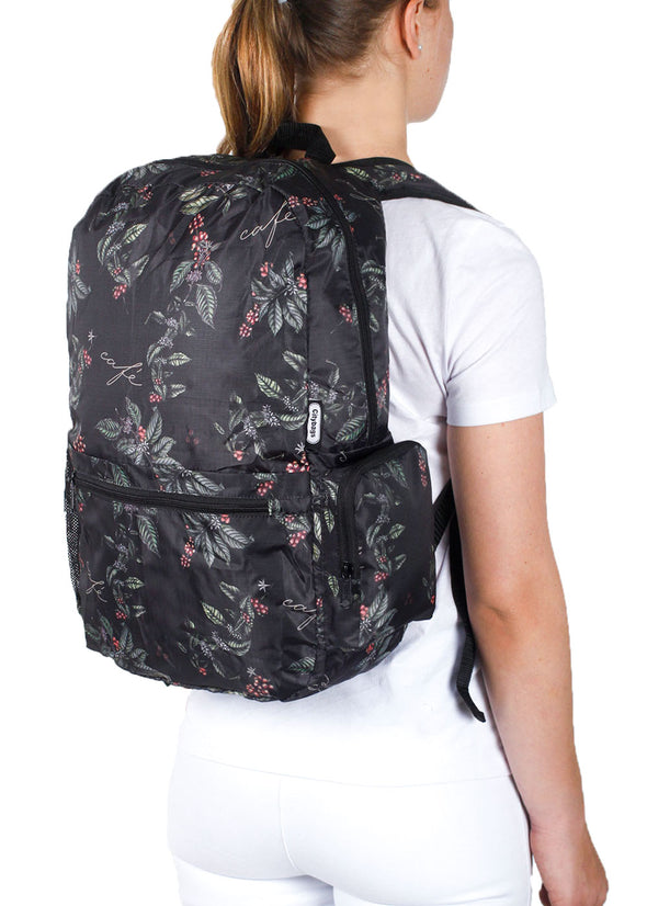 Morral Plegable Estampado Cafe