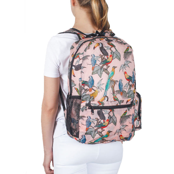 Morral Plegable Estampado Pájaros