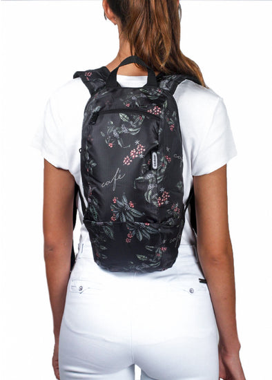 Morral Trekking Estampado Cafe
