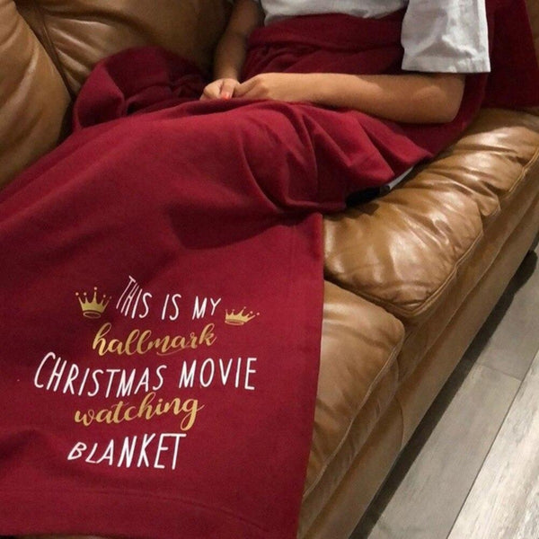 Xmas Hallmark Movie Fleece Throw Blanket