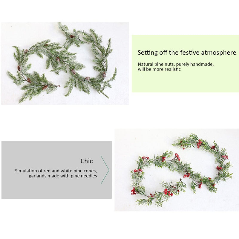 Berry & Pine Rattan Garland DIY Decoration
