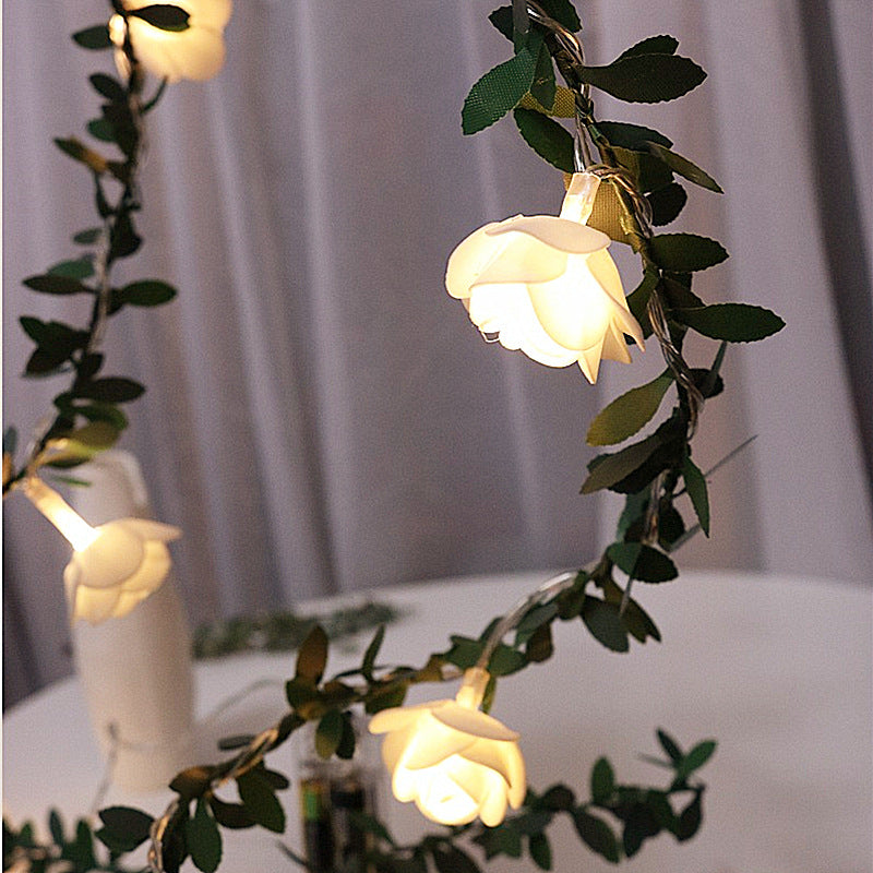 White Rose Romantic String LED Light