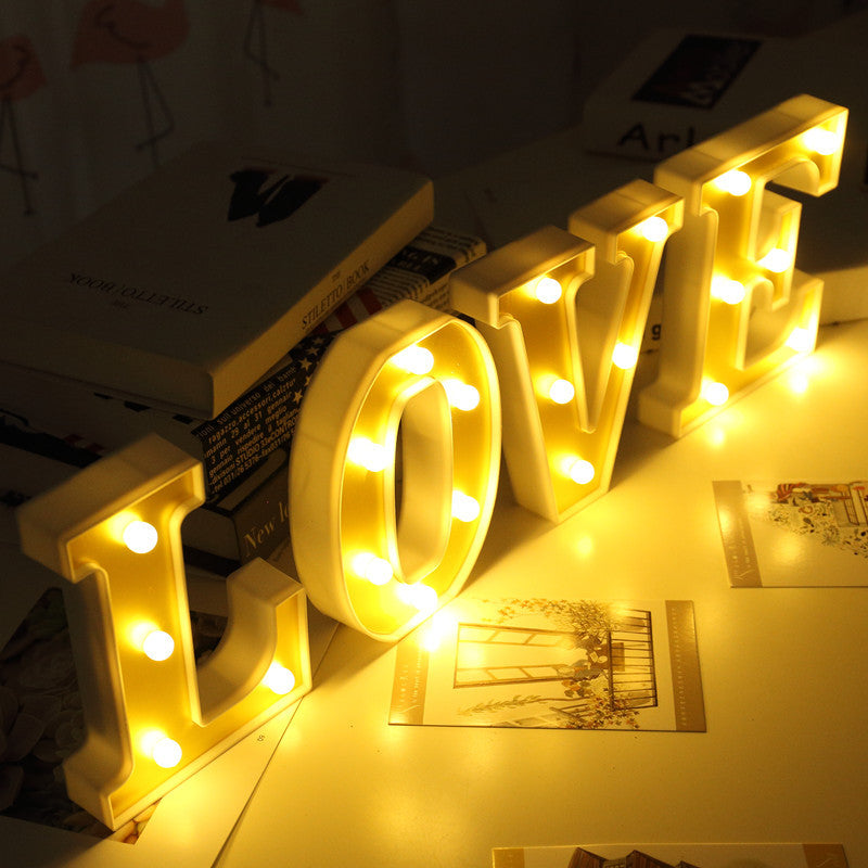3D Gold-plated Letters LED Night Light