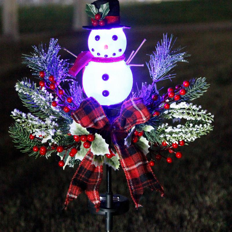 Gorgeous Snowman LED Solar Lamp