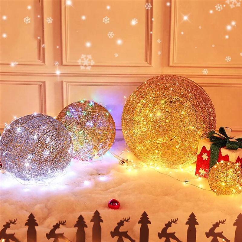 Glowing Christmas Ball Decoration