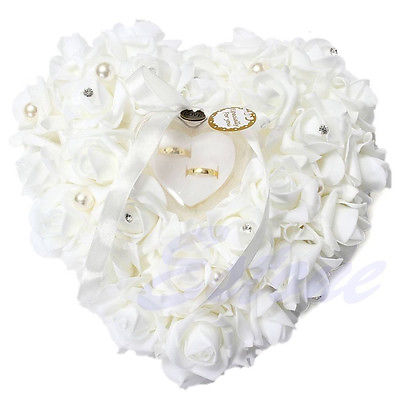 Heart-shape Rose Ring Box