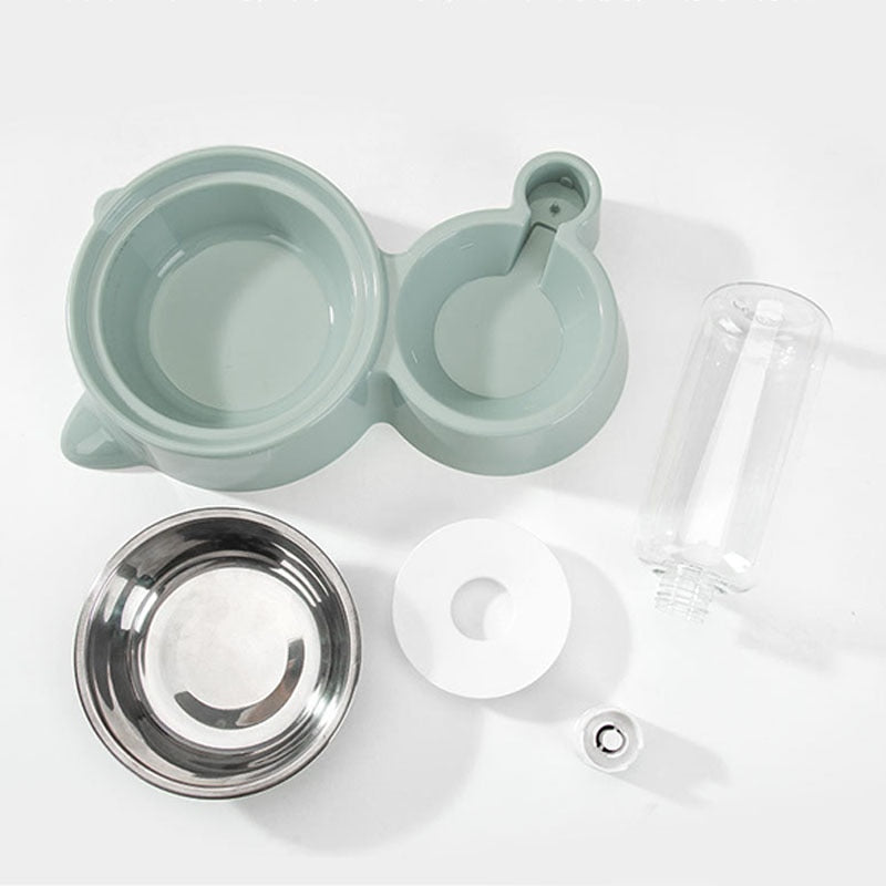 2-in-1 Lovely Pet Feeder Bowl
