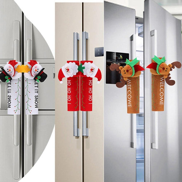 Christmas Fridge Handle Covers