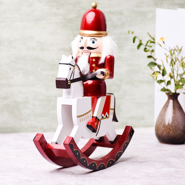 Rocking Horse Nutcracker Soldier Christmas Decoration - LEMI Décor