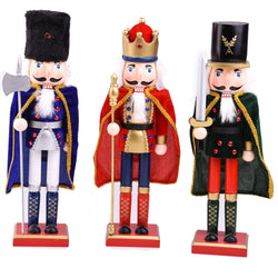 38cm Creative Wooden Nutcracker with Cloak Decoration - LEMI Décor