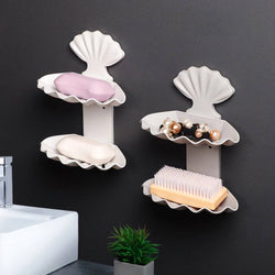 Double-layer Seashell Soap Storage