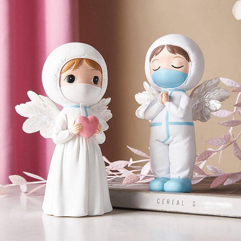 Angels in White Ornament Figurines