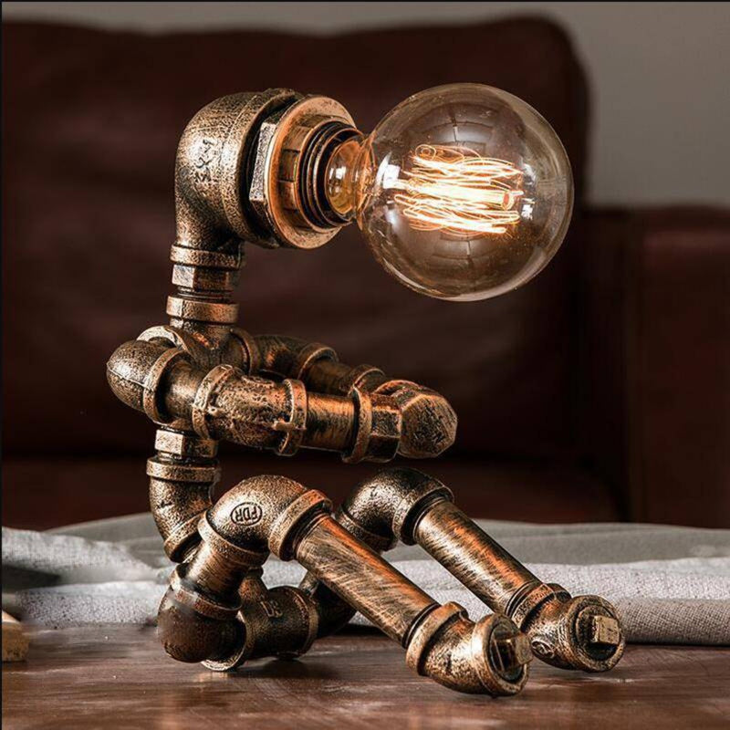 Retro Water Pipe Robot Lamp