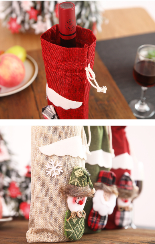 Christmas Wine Bottle Cover - LEMI Décor