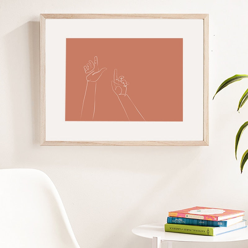 Sweet Life Abstract Art Canvas Printing