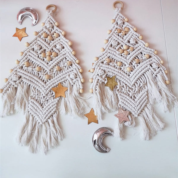 Boho Macrame Christmas Tree Ornament
