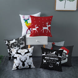 Christmas Reindeer Pillow Covers