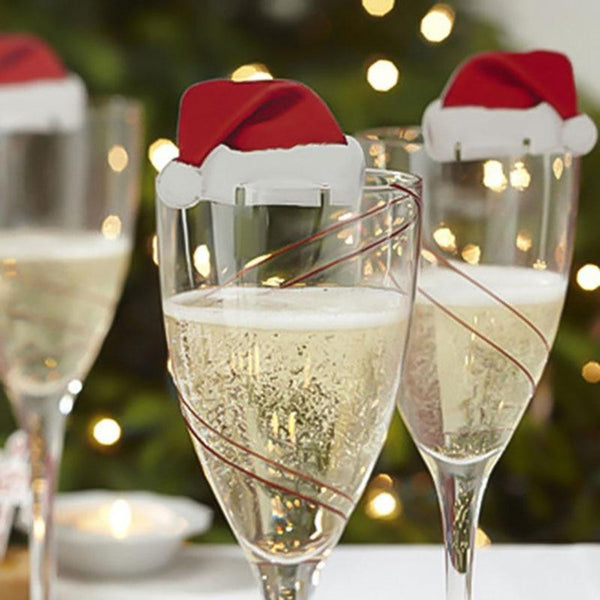 10PCS Christmas Wine Cup Hat - LEMI Décor