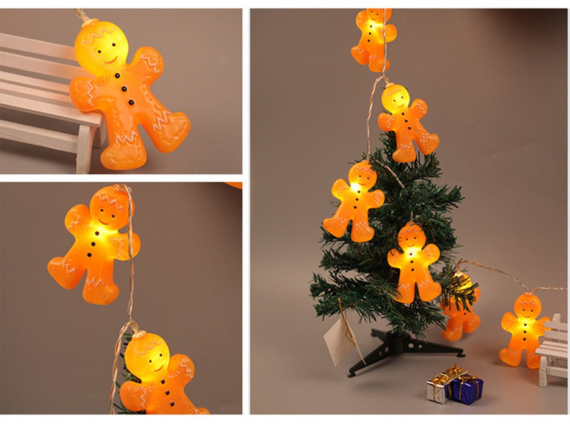 Xmas Gingerbread Men String Lights.
