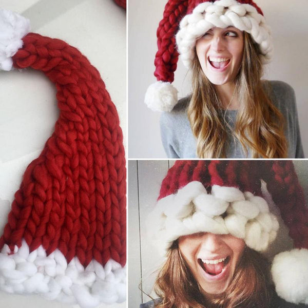 Soft Woolen Knitting Santa Hat