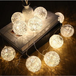 Christmas Lace Ball LED String Lights