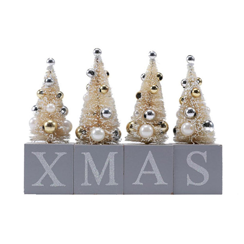 Xmas Tree Desktop Ornaments Set