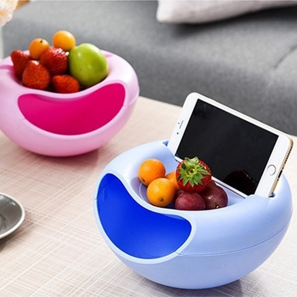Creative Double Layer Snacks Holder