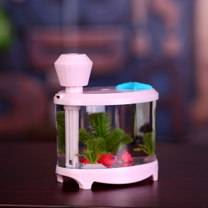 Mindful Day- Fish Tank LED Light Humidifier