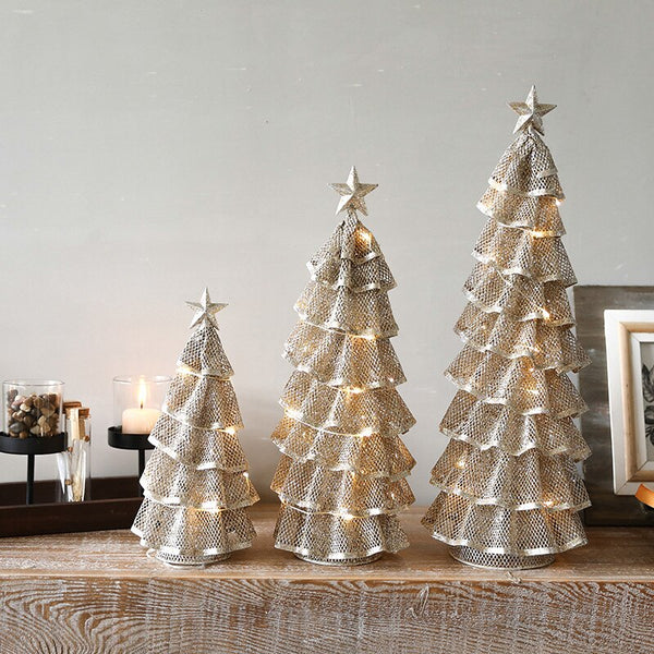 Creative Iron LED Christmas Tree Decoration - LEMI Décor
