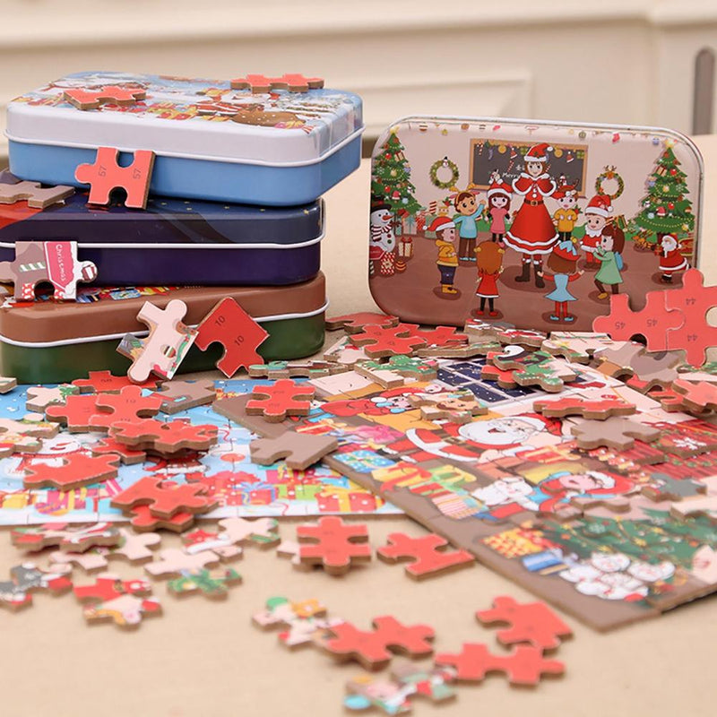 Merry Christmas Puzzle Iron Box.