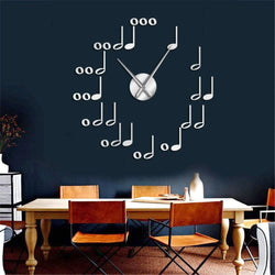MUSIC NOTES DIY WALL CLOCK