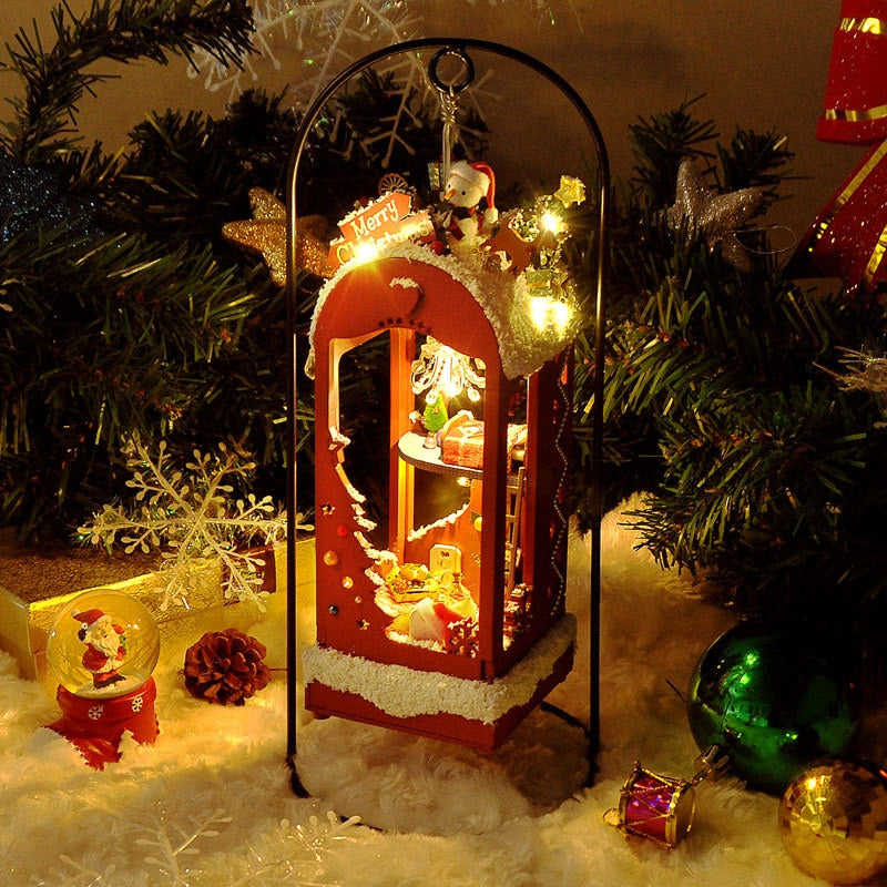 Christmas On A Snowy Night DIY Dollhouse