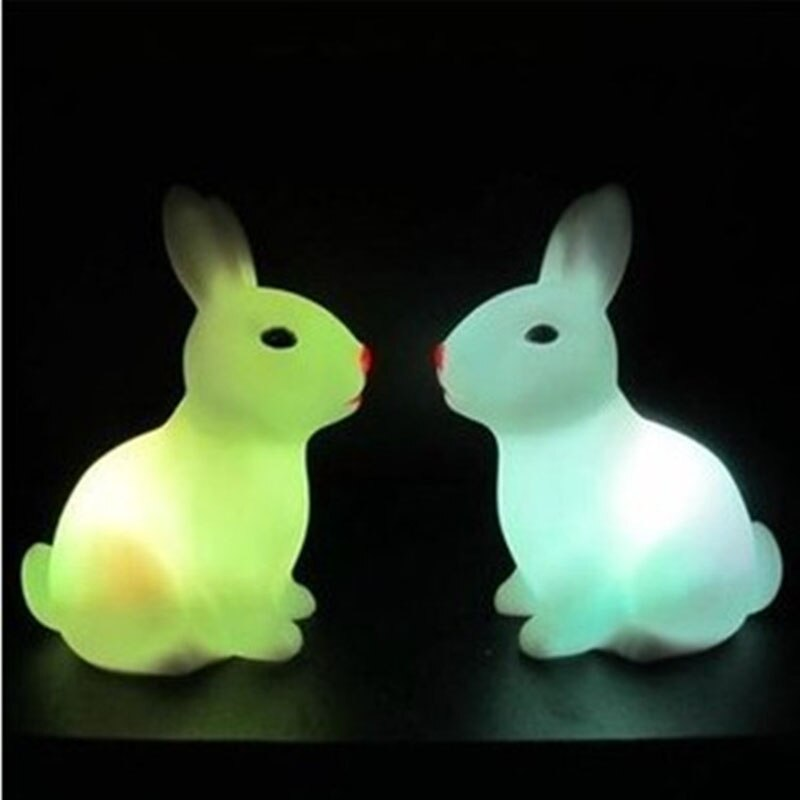 Cutie Colorful Bunny LED Night Light