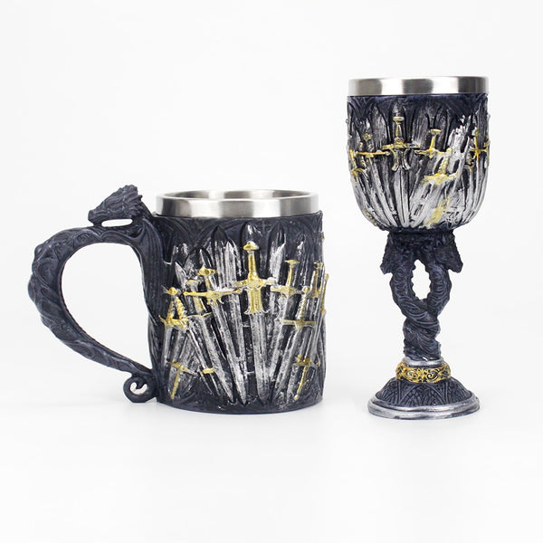 3D Dragon Thousand Swords Mug/Wine Glass - LEMI Décor