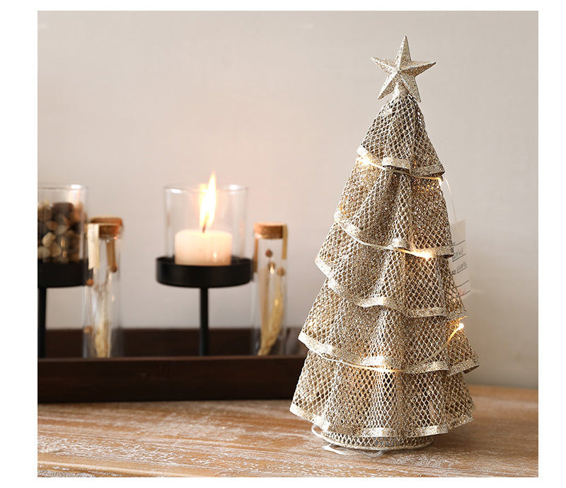 Creative Iron LED Christmas Tree Decoration