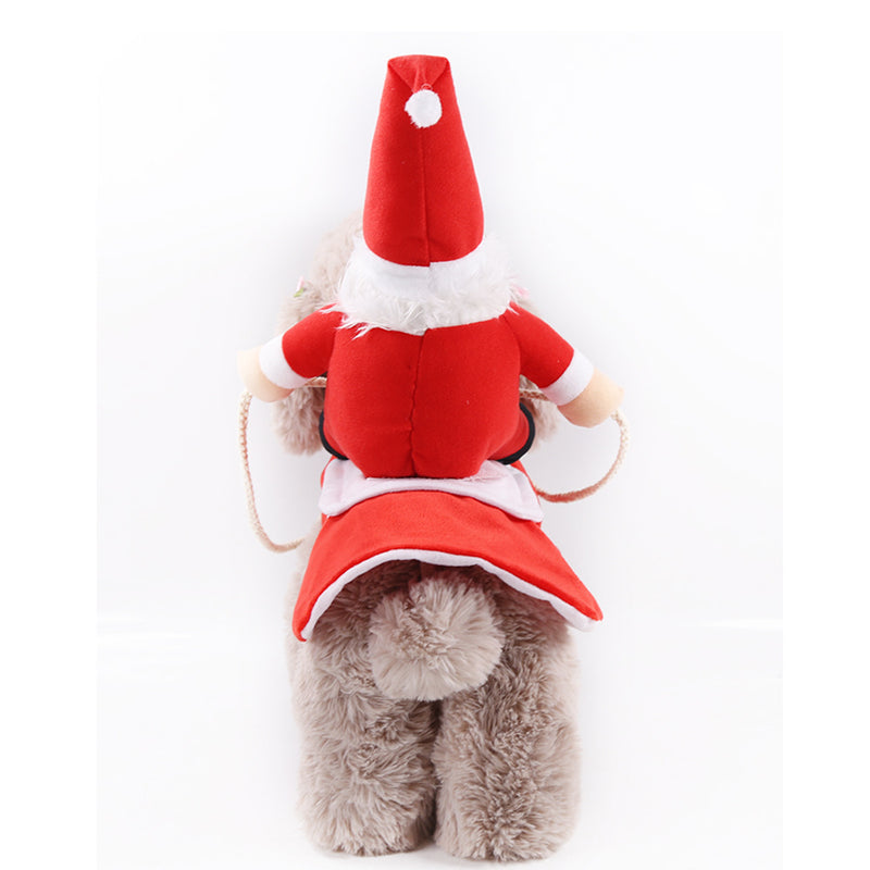 Funny Santa Puppy Ride Christmas Outfits
