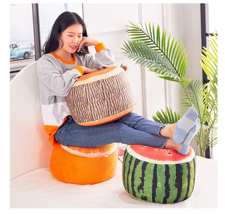 Cute Fruit Plush Inflatable Stool