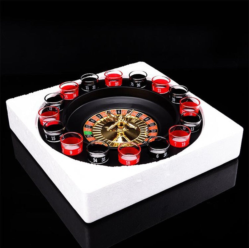 Shot Glass Drinking Roulette Game Set