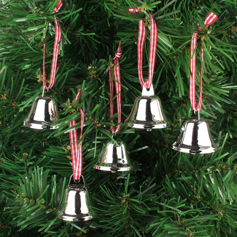 Xmas Bells Ribbon Ornaments (6PCS)