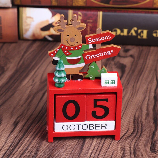 Wooden Christmas Countdown Calendar - LEMI Décor