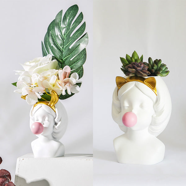 Cute Artistic Princess Vase Decoration - LEMI Décor