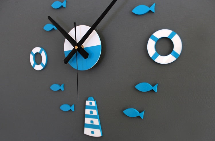 BLUE SEA DIY WALL CLOCK