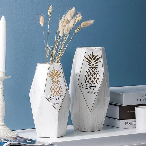 Marble Nordic Flower Vase Decoration - LEMI Décor