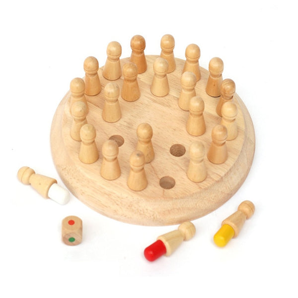 Wooden Memory Matchstick Chess Game Set