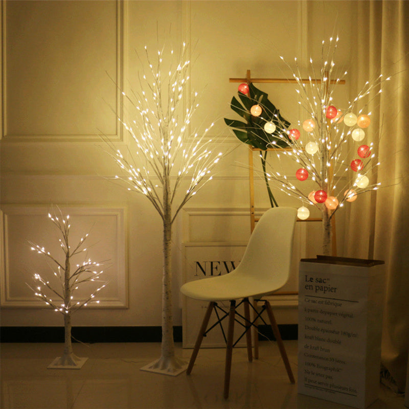White Birch Tree LED Lamp Decorations
