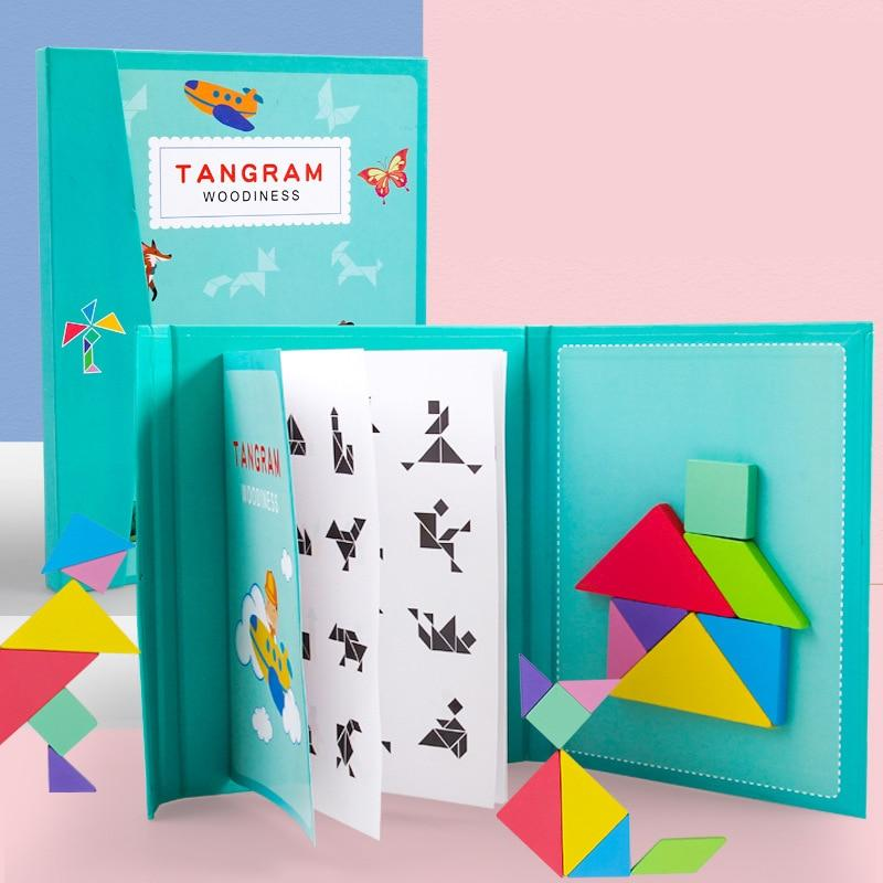 Wooden Tangram 3D Puzzles Kit
