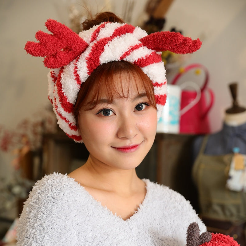 Cute Christmas Elk Fluffy Headband