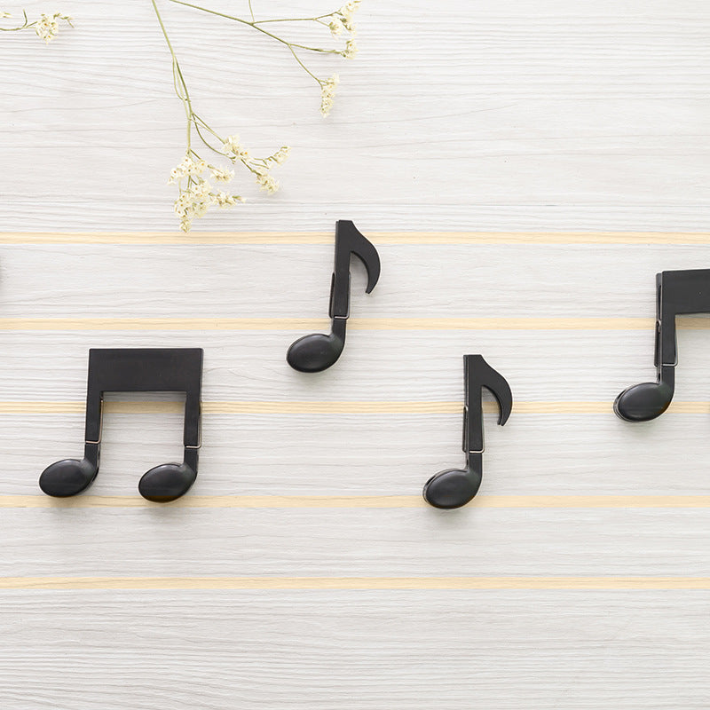 Creative Music Note Shaped Clip Set