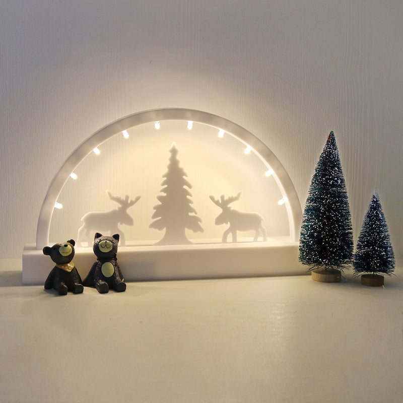 White Christmas Eve LED Lamp Decor
