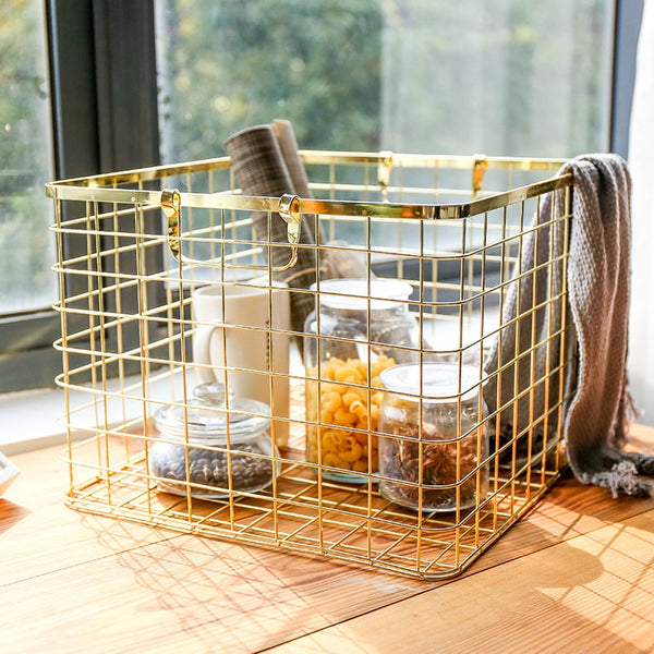 Marseille™ Nordic Luxury Iron Landry Storage Basket - LEMI Décor